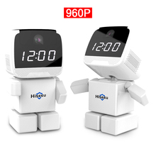 Беспроводной Робот 960 P Ip-камеры, WI-FI Часы Сеть ВИДЕОНАБЛЮДЕНИЯ HD Радионяня Пульт Дистанционного Управления Главная Безопасность Ночного Видения Двухстороннее аудио