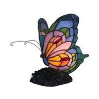 Handmade Creative Lovely Butterfly Vintage Tiffany Glass Table Light for Foyer Bed Room Apartment Decor Night Light H 23cm 1070