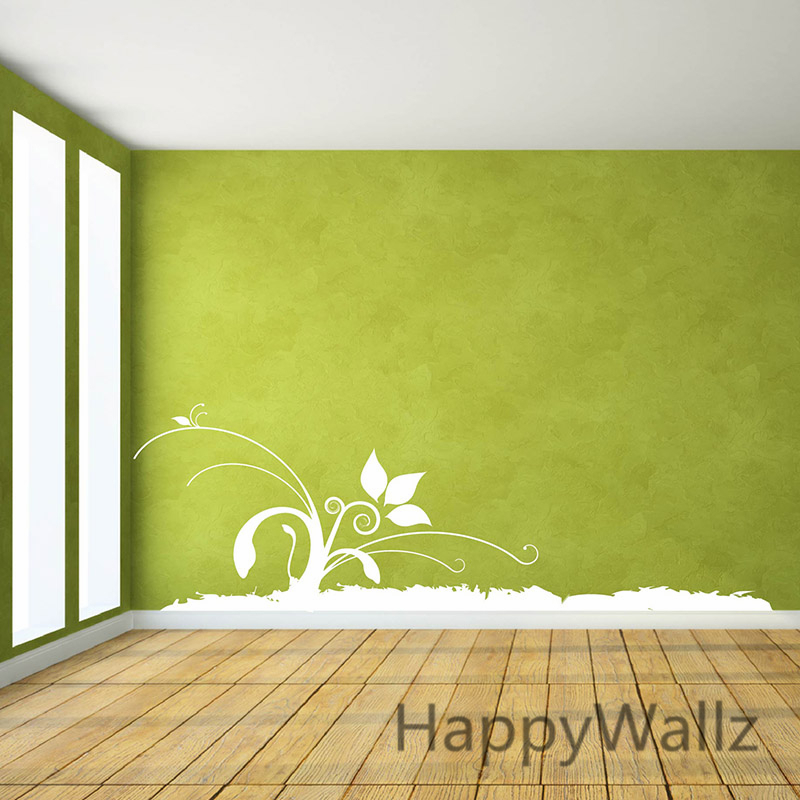 Charmant Flower Wall Border Wall Stickers 3D Beautiful Flower Wall Decals DIY Flower Wall  Border Flowers Wallpaper F29 In Wall Stickers From Home U0026 Garden On ...