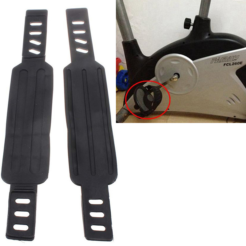 1 Pair Bicycle Cycling Pedal Straps Belts Fix Bands Pedal Tape Generic For Most Schwinn More Stationary Fitness Exercise Bike