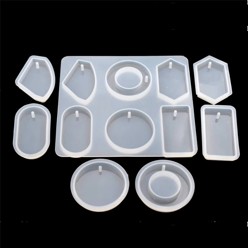 SNASAN Silicone Mold For Jewelry With Hole Big Pendants Resin Epoxy Silicone Mould Handmade Tool