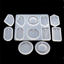 SNASAN Silicone Mold for jewelry with hole big pendants Resin epoxy Mould handmade tool