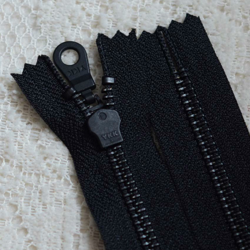 10 Pcs/lot Wholesale YKK Metal Zipper Black Close End From 15 To 50cm for Designer Leather Boots Bag Jacket Sewing Accessories