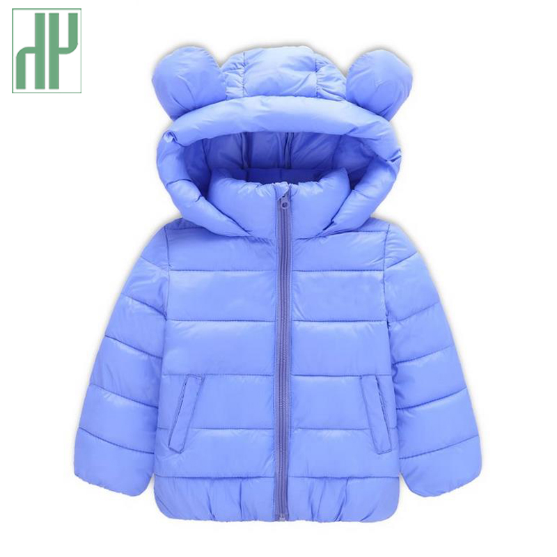 HH baby winter jacket Fashion down cotton boys girls parka coat Children Thick Warm Kids hooded jacket Cartoon Outerwear 2-6Yrs children winter coats jacket baby boys warm outerwear thickening outdoors kids snow proof coat parkas cotton padded clothes