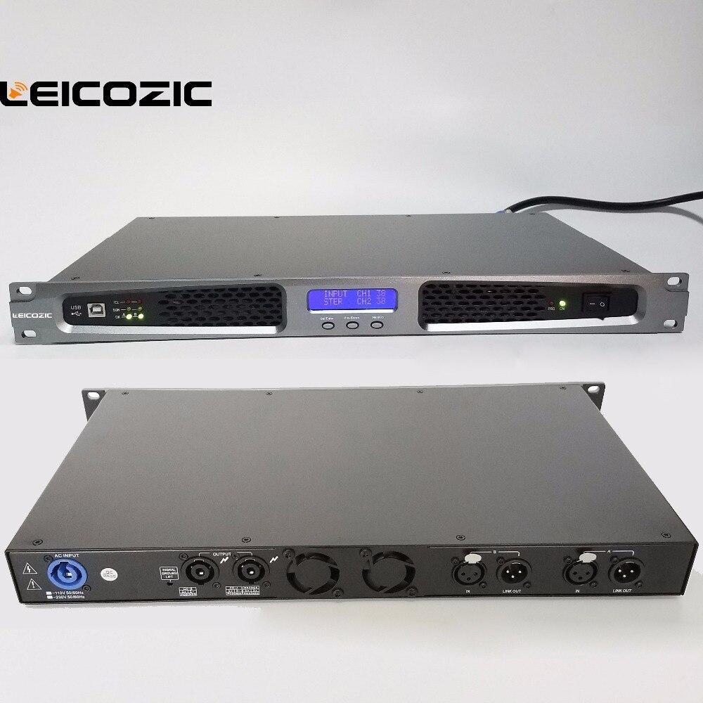 Leicozic усилитель мощности 550 Вт легкий вес универсальные усилители Профессиональный усилитель мощности 1U стойка крепление стерео усилитель