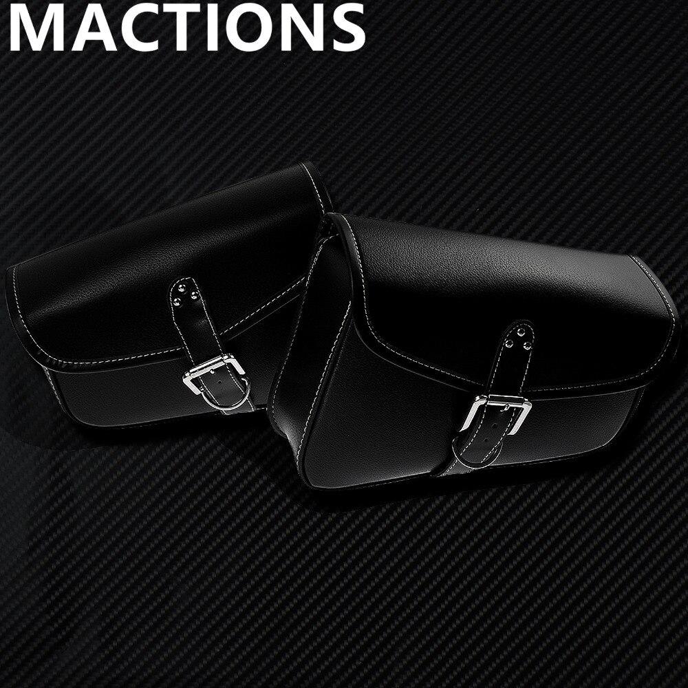 Мотоциклетные черные из искусственной кожи сумки боковые сумки сумка для инструментов 1 шт./2 шт. для Harley Sportster Железный XL883 XL1200