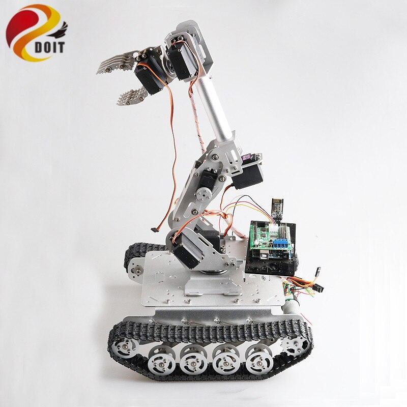 DOF Braço Mecânico do Robô móvel com 8 Tanque Chassis Amortecedor para Pegar o Transporte DIY Projeto Educacional