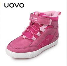 UOVO Brand Autumn Winter Children Shoes Fashion Girls And Boys Casual Shoes Children Comfortable Warm Sneaker. Eur28#-37# children autumn and winter warm clothes boys and girls thick cashmere sweaters