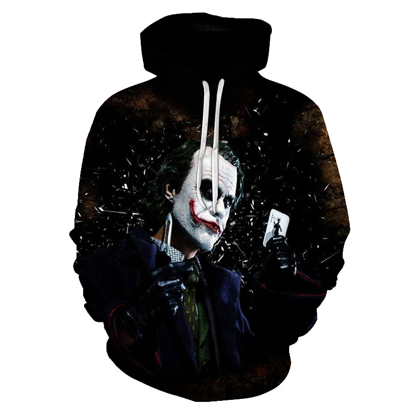 2018 New Joker Fashion Hoodies 3D Print Men Women Hooded Sweatshirt Pullovers Autumn Winter High Quality Tracksuit Hip Hop Male