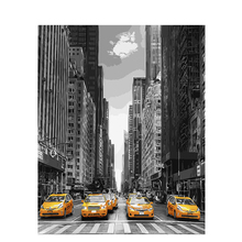 Taxi in New York.40x50cm,Painting By Numbers,DIY,wall Art,Living Room Decoration,Scenery,Figure,Animal,Flower,Cartoon