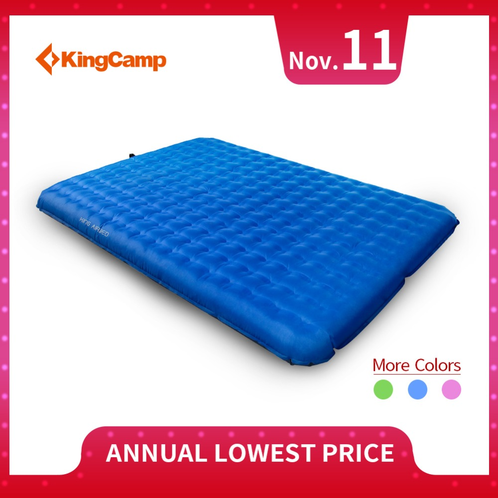 KingCamp Sleeping Pad Ultralight Tent Mat Portable Self Inflating Camping Mattress Damp-proof for Trekking Outdoor Camping kingcamp comfort mattress self inflating damp proof 2 person camping mat with pillows inflatable mattress