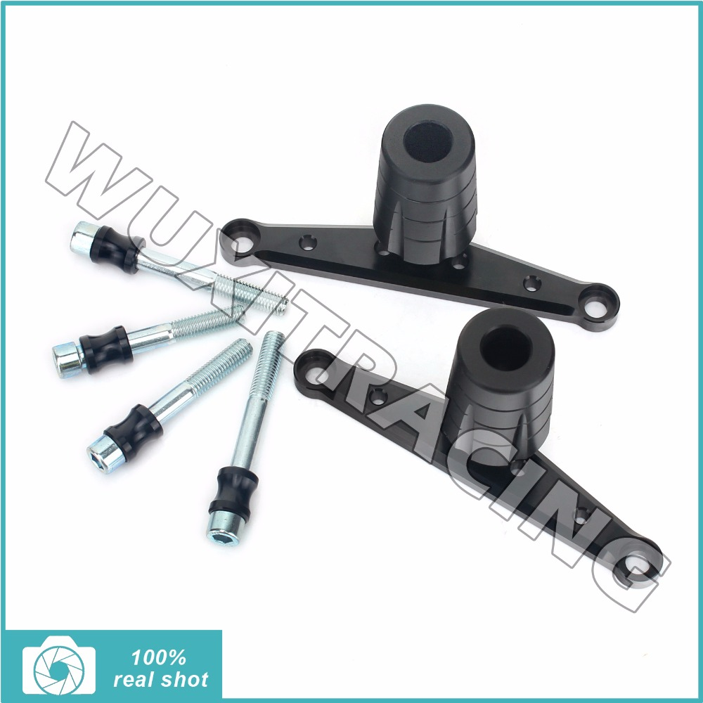New CNC Billet Frame Slider Protector Crash Pads Fit for TUONO V4 R ABS NON-ABS 12 13 14 15 16 RSV4 R ABS 2013 2014 2015 2016