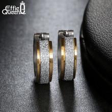 Small Hoop Earring for Women Girls Dull Polished 316L Stainless Steel Earrings for Men Puck Rock Jewelry 2017 IE02