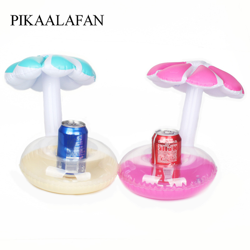 PIKAALAFAN Float Inflatable Umbrella Tree Drink Cup Holder Mini Drink Pool Toy Outdoor Swimming Pool Beach Party Supplies