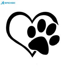 New Car Styling Sticker footprint love heart pattern Stickers Car Covers waterproof reflective Bicycle Luggage Bags Accessories