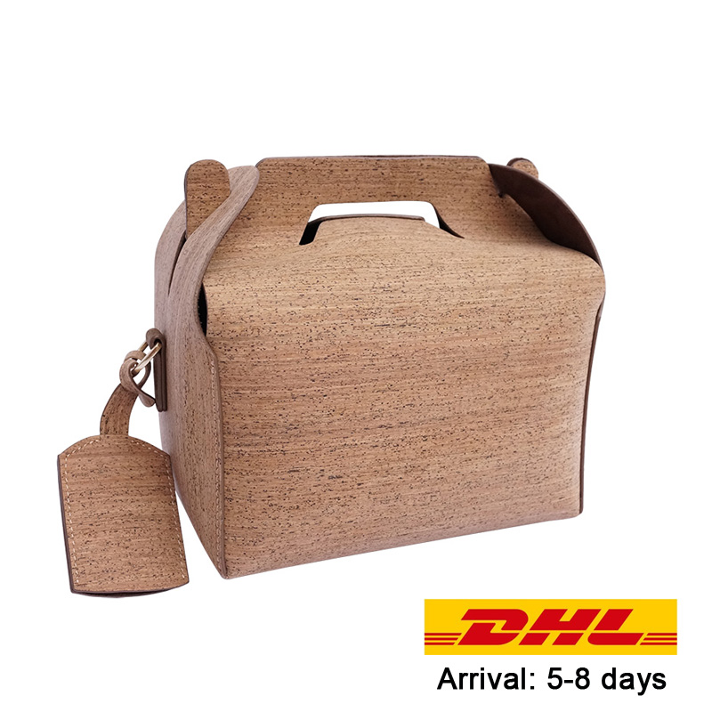 KAOGE Vegan Luxury Lunch Bag Handmade Natural Cork baobao Vintage Handbags Cake Crossbody Bag waterproof Shoulder Bags electric lunch box double layer stainless steel liner cooking lunch boxes multifunction plug in lunch box steamed rice steamer