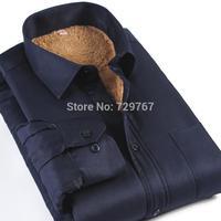 2017 New Fashion Winter warme einfarbig langarm kausalen männer shirts starke warme camofleece langarm-shirt männer
