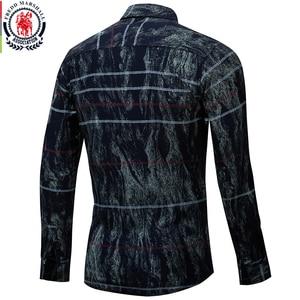 Image 3 - Fredd Marshall 2018 Autumn Fashion Retro Printed Shirt Men Striped Shirt Long Sleeve Casual Dress Shirt Male Brand Clothes 179