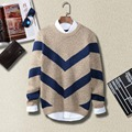 Novelty Designer Neck Men Striped Sweater Christmas 2016 Winter Pullover Knitwear Autumn Camisola Coat Erkek Kazak Jumper Sweter