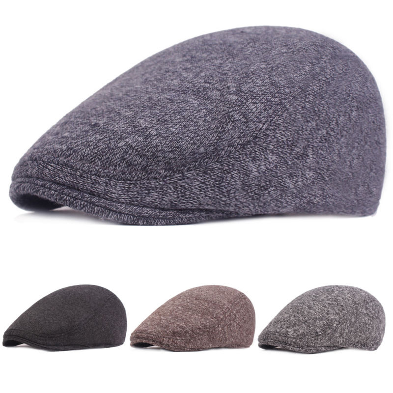3456a87ff VOBOOM Wool Tweed Herringbone Flat Cap Newsboy Caps Men Women Beret ...