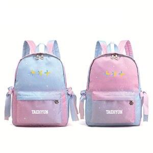 Градиентный цвет Tomorrow X Together TXT kpop печатный рюкзак женский розовый рюкзак парусиновые школьные сумки водонепроницаемый дорожный рюкзак