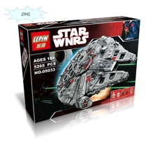 Hot LEPIN Nuevo 5065 unids 05033 Millennium Falcon Juguetes Figuras Building Blocks Marvel Minifigures  STAR WARS 10179