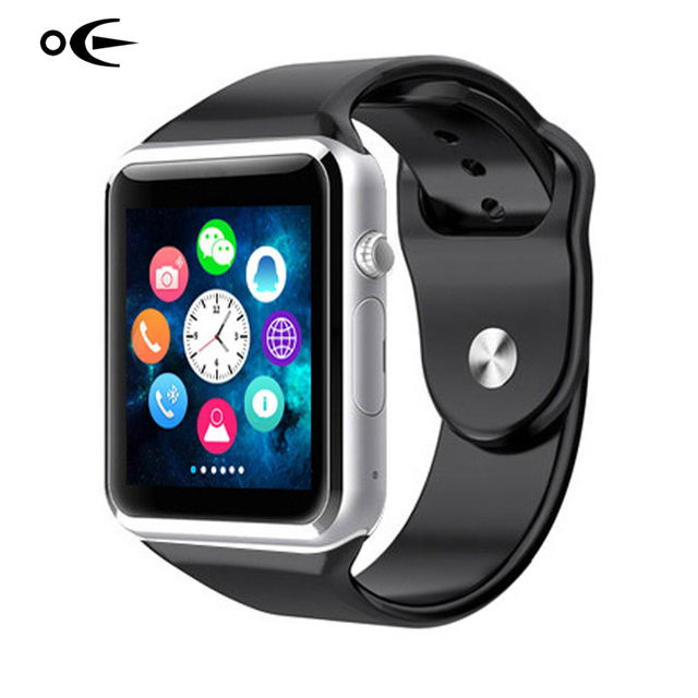 Bluetooth Connectivity Smart Watch Sport Pedometer Men Wristwatch Camera SIM Card Touch Smartwatch For IOS Android Smartphone