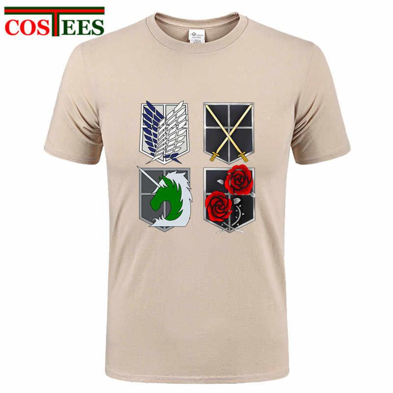 Attack On Titan T Shirts Men high Streetwear Summer Shingeki No Kyojin T  Shirt Man Hip bc2c2d69ed4