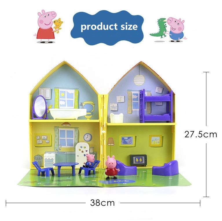 Image 5 - 2019 New Genuine PEPPA PIG   peppa pig's house playset with Peppa George figure KIDS TOY children's Birthday gift Hot sale-in Action & Toy Figures from Toys & Hobbies