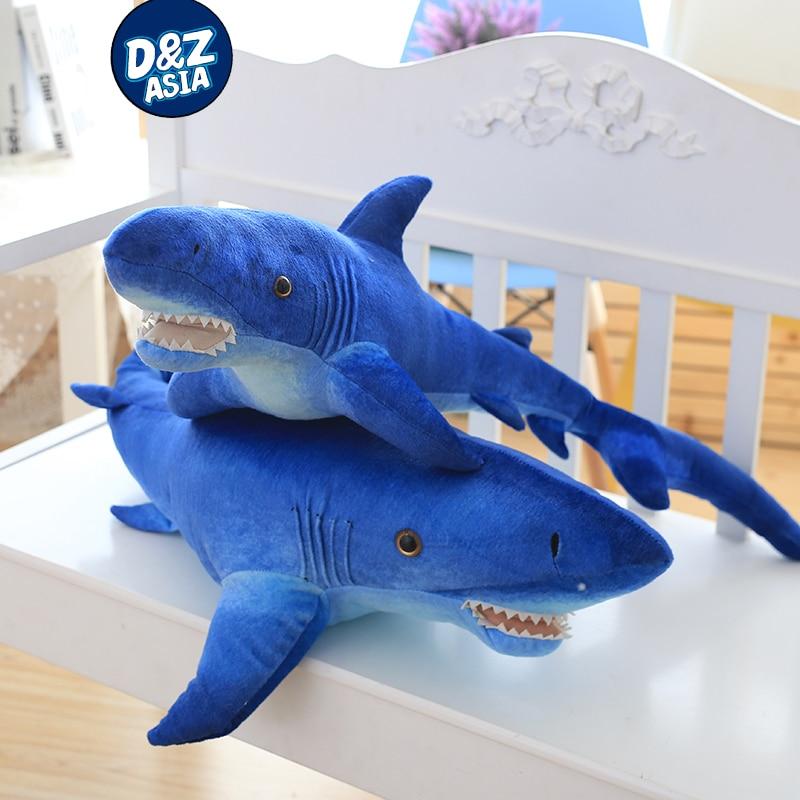 Giant Shark Pillow. Big Blue Shark Doll Shark Plush Toys Day New ...