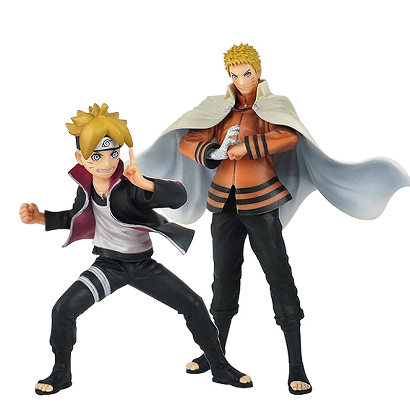 2pcs/set Japanese Anime Naruto Uzumaki Naruto Boruto Action Figure PVC Toys Model Doll Decoration Kid Adult Gift free shipping japanese anime naruto hatake kakashi pvc action figure model toys dolls 9 22cm 013