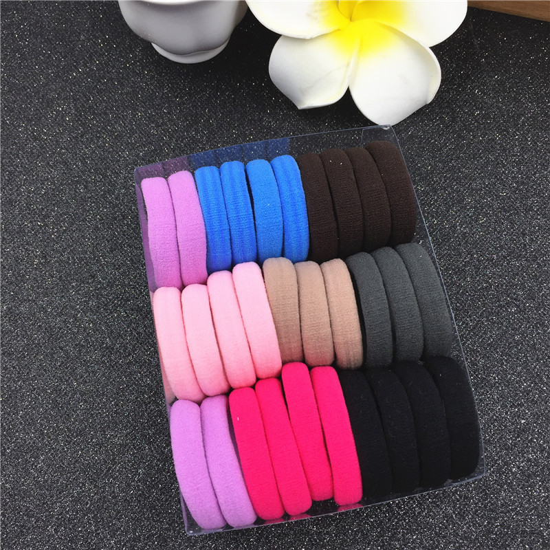 10PCS Elastic Bands Scrunchie Hair Tie Ring Rope Hair seamless Girls 39 Ponytail Holder Gum For Hair Accessories Women Headband in Women 39 s Hair Accessories from Apparel Accessories