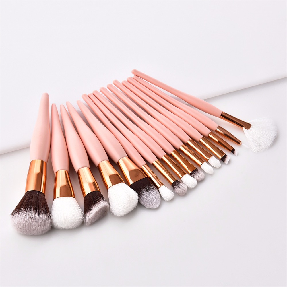 8/12/15Pcs Professional Make-Up Pinsel <font><b>Set</b></font> Pincel Maquiagem Basis Foundation Pulver Kosmetik blending Rosa Make-Up pinsel Schönheit image
