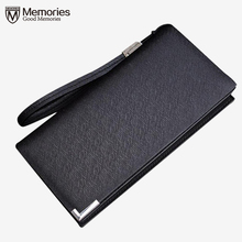 New fashion men wallet leather purse handbags for male luxury brand Multifunction black zipper men clutches free shipping gift(China)