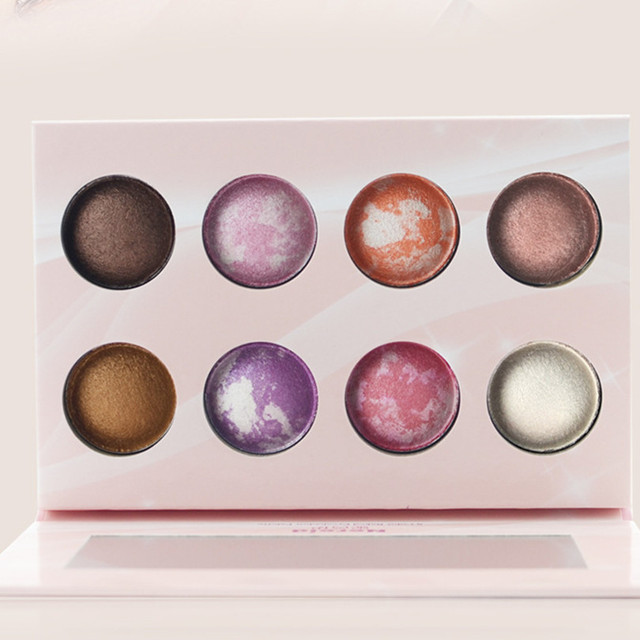 New Arrival 8 Color Makeup Baked Eyeshadow Palette For Women Eye makeup Eye Shadow maquiagem Cosmetic Set