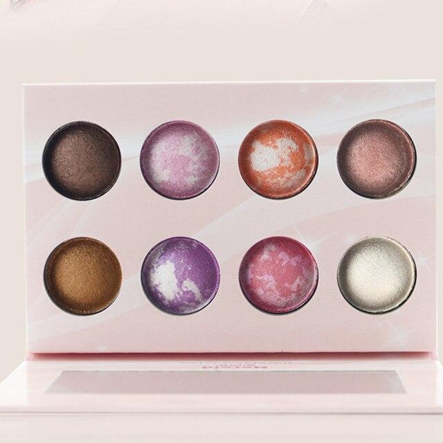 New Arrival 8 maquiagem colorida da paleta da sombra Baked para as mulheres maquiagem dos olhos sombra de olho maquiagem cosméticos Set