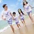 Мать сын наряды мать и дочь 2016 лето семья одежда набор пляжный отдых семья одежда высочайшее качество подросток