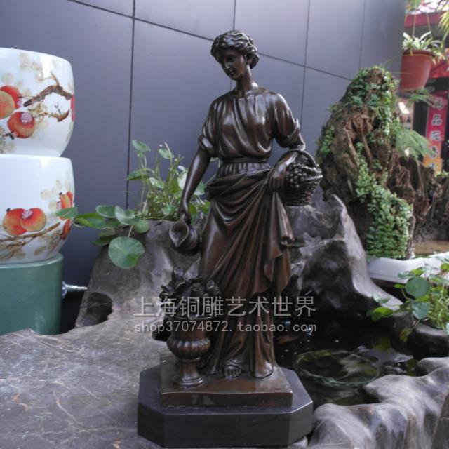 Классическая скульптура богини урожая бронзовая скульптура искусства орнамент ремесла украшения украшения подарок Для Обустройства Дома