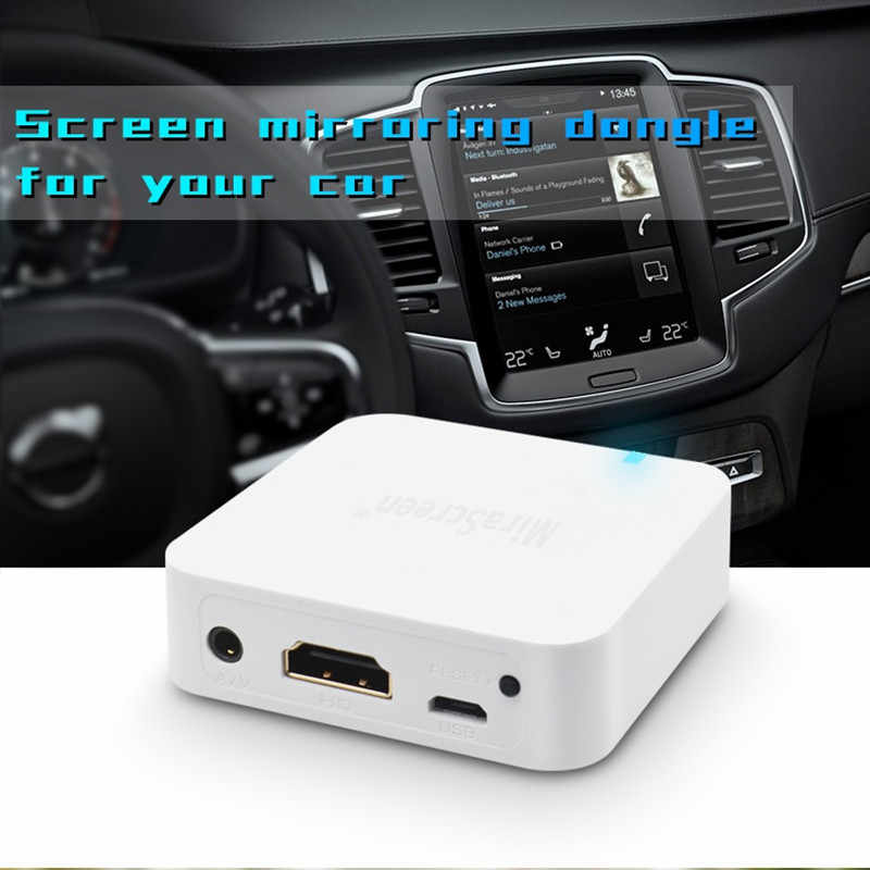 YIKIXI New X7 Car Wireless WIFI Mirror link Box HDMI Dongle For iOS Android Phone Audio Video Miracast Screen Mirroring to Car
