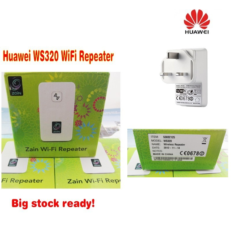 Lot of 100pcs Huawei WS320 WLAN Repeater Mini WiFi Range Extender(UK PLUG),DHL delivery