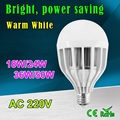 220V SMD5730 Chips LED Spotlight Lamp Super-Power Bulb E27 Cold White Lamp 18W 24W 36W 50W Lighting Light