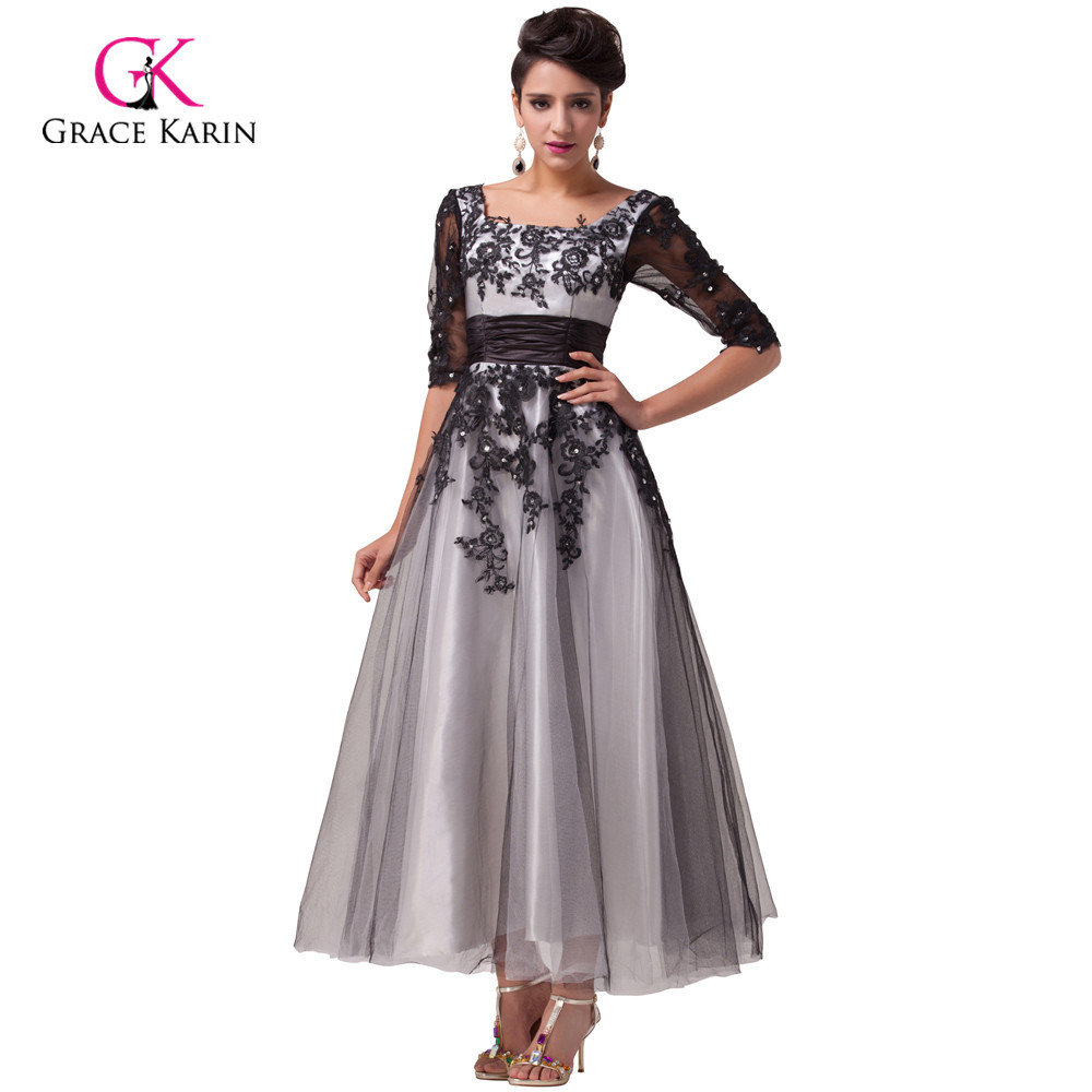 6356d6680aef6 Buy lace black and white evening gowns and get free shipping on ...