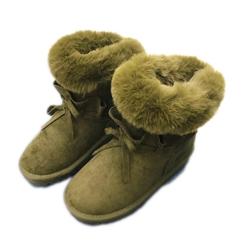 grey En Cusual Chaud Troupeau Sonw Mcckle Femme forme Plate Femmes Black Bowtie D'hiver Doux Daim Chaussons Bottes green De Chaussures Cheville Dames Femelle zAxxp1q