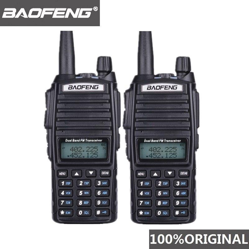 2 pièces BaoFeng UV-82 talkie-walkie 10 KM double bande 136-174/400-520 MHz FM jambon Radio bidirectionnelle UV82 CB Radio Hf émetteur-récepteur UV 82