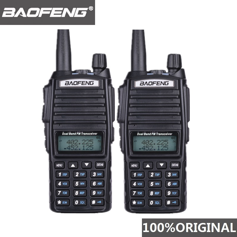 2PCS BaoFeng UV-82 Walkie Talkie <font><b>10</b></font> KM Dual Band 136-174/400-520 <font><b>MHz</b></font> FM Ham Two Way Radio UV82 CB Ham Radio Hf Transceiver UV 82 image