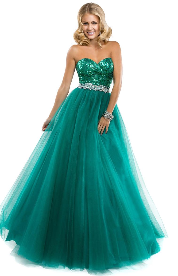 Popular Emerald Green Sequin Prom Dress-Buy Cheap Emerald Green ...