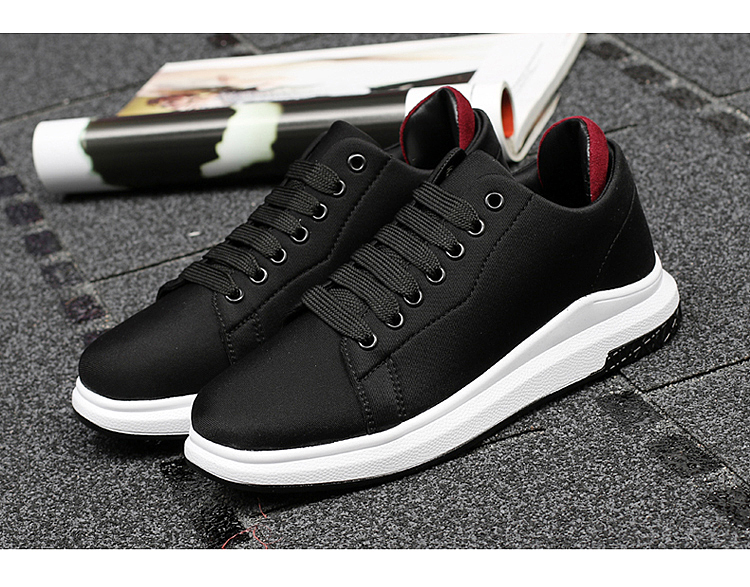 Stretch Fabric Casual Shoes Woman 2017 Fashion Spring Lace Up Ladies Shoes Breathable Women\'s Vulcanize Shoes Superstars ZD68 (6)
