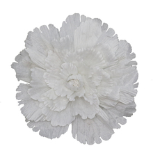 Pure white peony imitation silk flower wall decoration wedding background outdoor photographic stage props