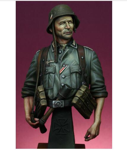 1/9 WW2 German soldier with machine bust toy Resin Model Miniature Kit unassembly Unpainted wwii hms surprise captain jack resin soldier bust model resin bust master and commander