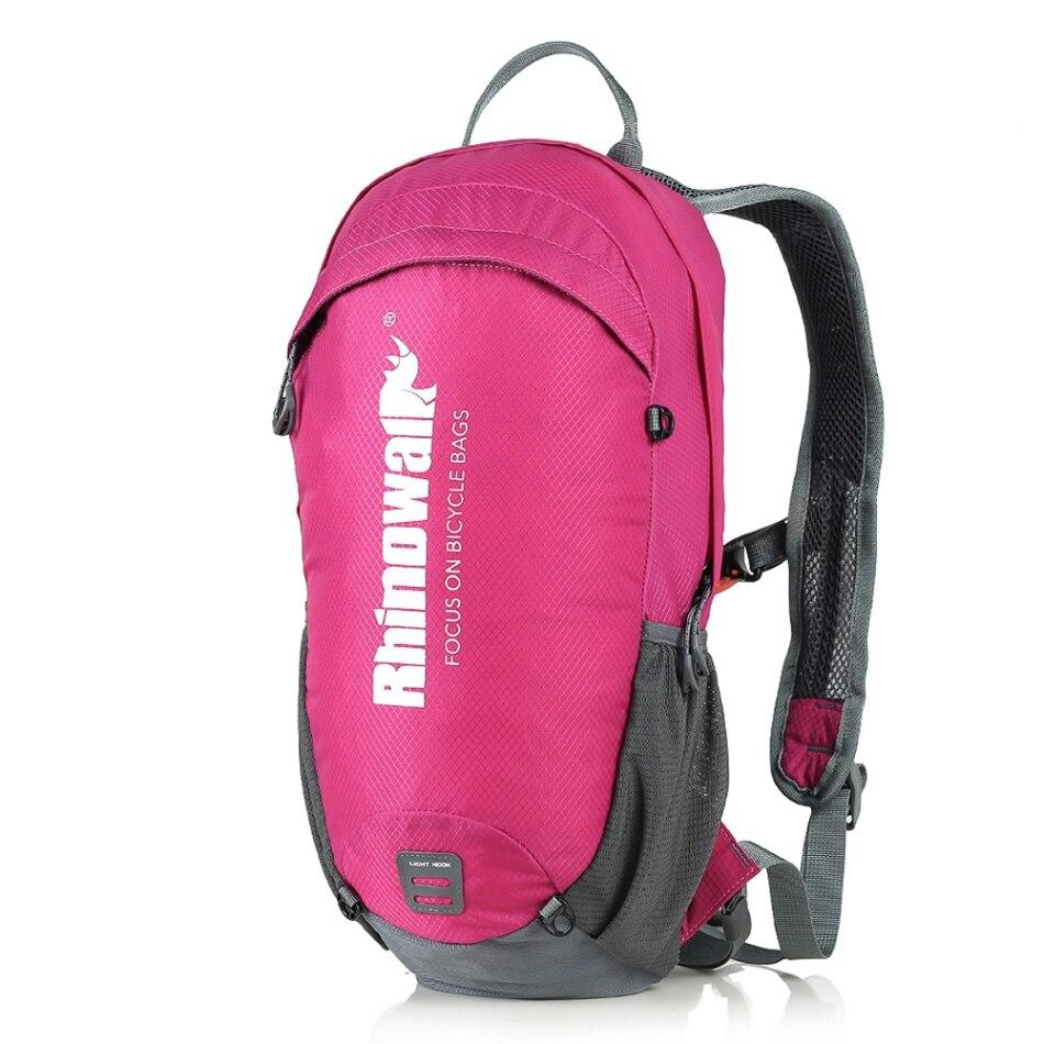 12 литровый рюкзак для велоспорта, легкий дышащий рюкзак для езды на велосипеде, рюкзак для активного отдыха, спортивный рюкзак, Аксессуары для велосипеда - Цвет: Rose red